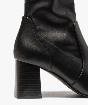 Boots femme unies à talon carré et col ajusté vue6 - GEMO(URBAIN) - GEMO