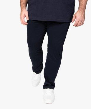 Pantalon homme en toile coupe Straight vue1 - GEMO (G TAILLE) - GEMO