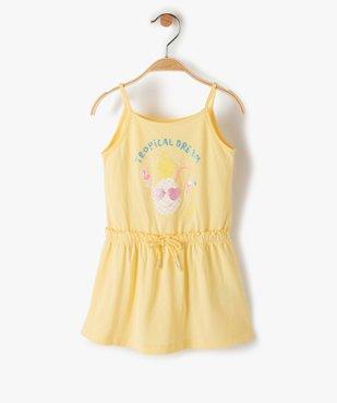 Robe bébé fille à bretelles effet 2-en-1 vue1 - GEMO(BEBE DEBT) - GEMO