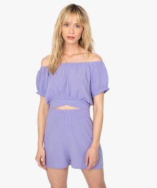 Combishort pyjama femme ouvert - Lulu Castagnette vue1 - LULUCASTAGNETTE - GEMO