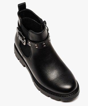 Boots fille unis style chelsea à bride fantaisie vue5 - GEMO (ENFANT) - GEMO