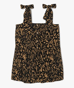 Chemise femme à bretelles motif animalier vue1 - GEMO (G TAILLE) - GEMO
