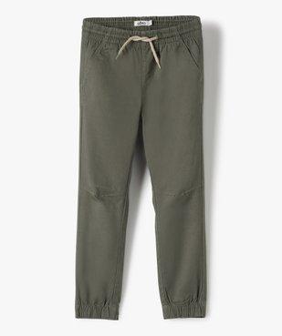 Pantalon garçon avec taille et chevilles élastiquées vue2 - GEMO (ENFANT) - GEMO