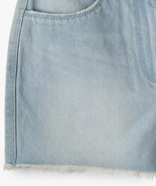 Short fille en jean ultra court taille haute vue3 - GEMO (JUNIOR) - GEMO