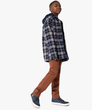 Chemise garçon à carreaux entièrement doublée sherpa vue5 - Nikesneakers (ENFANT) - Nikesneakers