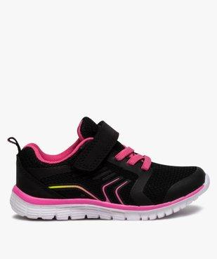 Baskets fille bicolores à lacets élastiques et scratch vue1 - Nikesneakers (ENFANT) - Nikesneakers