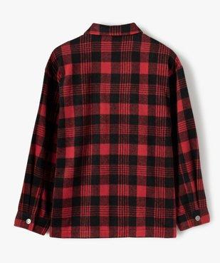 Veste fille façon chemise à carreaux vue4 - GEMO (JUNIOR) - GEMO