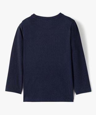Tee-shirt garçon manches longues à poche poitrine vue4 - GEMO C4G GARCON - GEMO