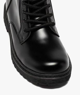 Boots fille unis à semelle crantée fermeture lacets et zip vue6 - GEMO (ENFANT) - GEMO
