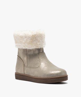Boots fille à col rembourré en fourrure imitation vue2 - GEMO (ENFANT) - GEMO