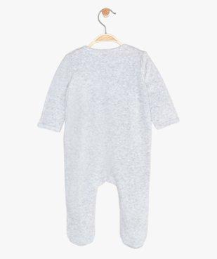 Pyjama bébé en velours motif renard vue3 - GEMO(BEBE DEBT) - GEMO