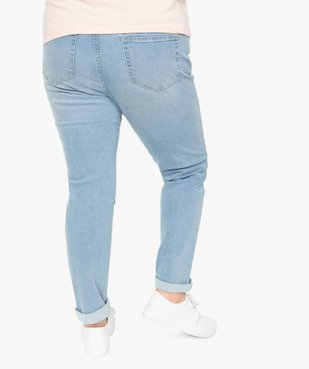 Jean femme straight stretch à taille réglable vue3 - GEMO (G TAILLE) - GEMO