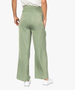 Pantalon de grossesse ample et fluide à taille smockée vue3 - GEMO (MATER) - GEMO