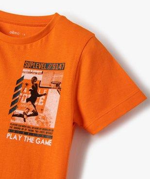 Tee-shirt garçon imprimé à manches courtes vue2 - GEMO (ENFANT) - GEMO