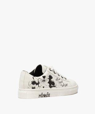 Baskets fille à lacets avec dessin Mickey et Minnie vue4 - MINNIE - GEMO