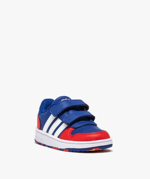 Baskets bébé garçon multicolores – Adidas Hoops 2.0 vue2 - ADIDAS - GEMO