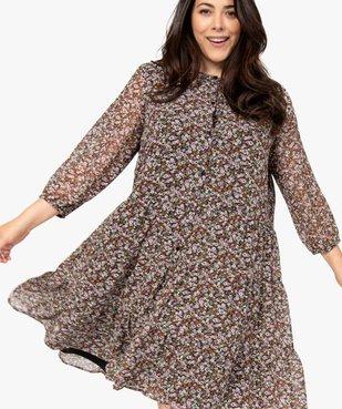 Robe femme imprimée fermeture boutonnée vue2 - GEMO (G TAILLE) - GEMO