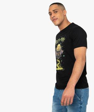 Tee-shirt homme à motif soucoupe volante – Rick and Morty vue2 - RICK ET MORTY - GEMO