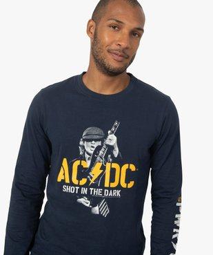 Tee-shirt homme avec motif ACDC à manches longues vue2 - ACDC - GEMO
