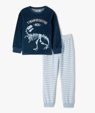 Pyjama garçon en velours avec motif dinosaure vue1 - GEMO (ENFANT) - GEMO
