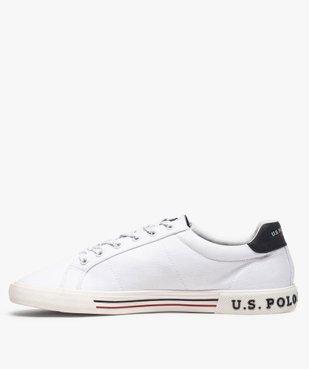 Tennis homme en toile unie à lacets – US Polo Assn vue3 - US POLO - GEMO