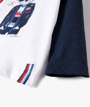 Tee-shirt garçon à manches longues imprimé - Lulu Castagnette vue4 - LULUCASTAGNETTE - GEMO