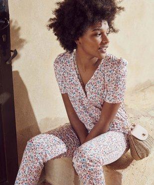 Combinaison-pantalon femme à manches courtes vue6 - GEMO(FEMME PAP) - GEMO