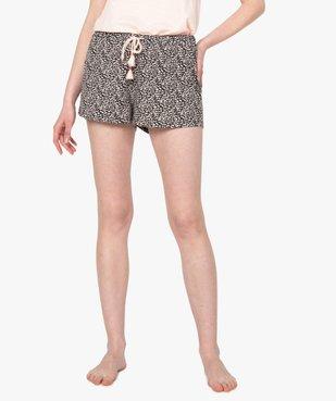 Bas de pyjama femme forme short imprimé vue1 - GEMO(HOMWR FEM) - GEMO