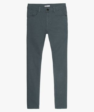 Pantalon garçon coupe skinny en toile extensible vue1 - GEMO (JUNIOR) - GEMO