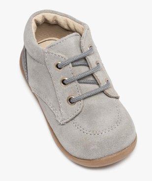Chaussures de marche bébé en cuir bicolores vue5 - GEMO(BEBE DEBT) - GEMO
