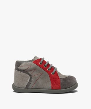 Chaussures premiers pas bébé garçon en cuir vue1 - GEMO(BEBE DEBT) - GEMO