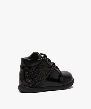 Chaussures premiers pas bébé fille en cuir détails brillants vue4 - Nikesneakers(BEBE DEBT) - Nikesneakers