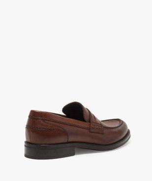 Mocassins homme unis à enfiler semelle intérieure cuir dessus cuir lisse vue4 - Nikesneakers(URBAIN) - Nikesneakers