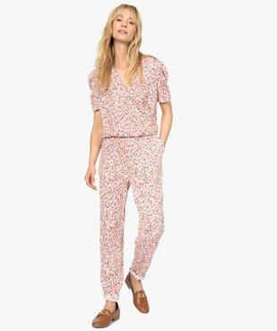 Combinaison-pantalon femme à manches courtes vue1 - GEMO(FEMME PAP) - GEMO