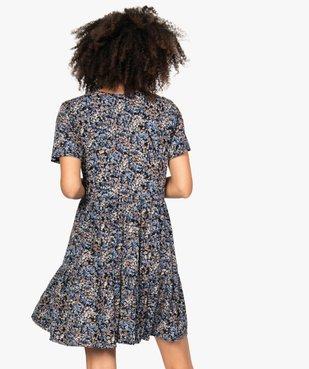 Robe de grossesse et allaitement ample à motif fleuri vue3 - GEMO (MATER) - GEMO