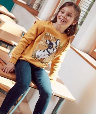 Tee-shirt fille à manches longues et motif sur l'avant vue6 - GEMO C4G FILLE - GEMO