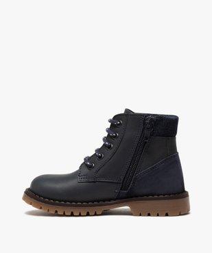 Boots garçon à semelle crantée et col rembourré en denim vue3 - GEMO (ENFANT) - GEMO