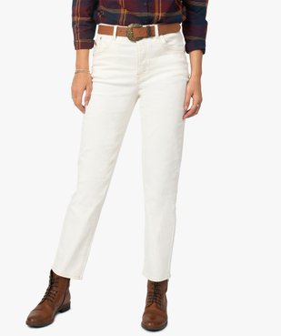 Jean femme coupe Straight taille haute vue1 - GEMO(FEMME PAP) - GEMO
