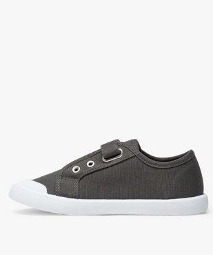 Chaussures basses garçon en toile unie fermeture scratch vue3 - GEMO (ENFANT) - GEMO