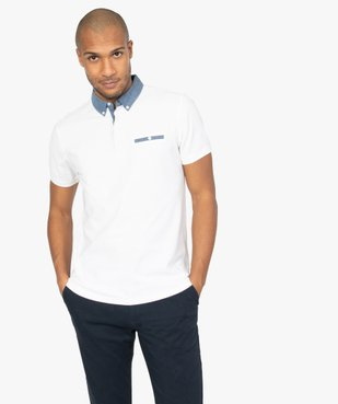 Polo homme avec col chemise contrastant vue1 - Nikesneakers (HOMME) - Nikesneakers