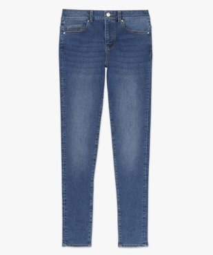 Jean femme coupe skinny taille haute vue4 - GEMO(FEMME PAP) - GEMO