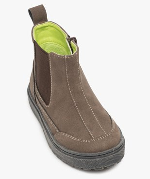 Boots bébé garçon à surpiqûres contrastées – Gepy vue5 - FRIENDLY GEPY - GEMO