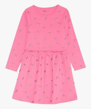 Robe fille en maille imprimée à manches longues motif licornes paillletées vue1 - GEMO (ENFANT) - GEMO
