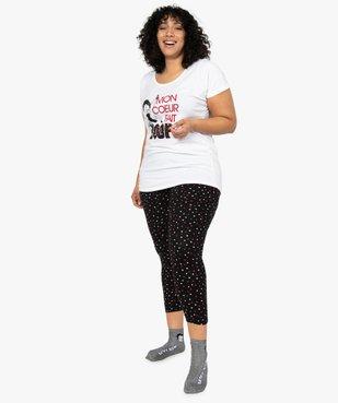 Pyjama femme à imprimé cœurs - Betty Boop vue1 - BETTY BOOP - GEMO