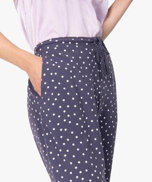 Pantalon de pyjama femme à motifs fleuris vue2 - Nikesneakers(HOMWR FEM) - Nikesneakers