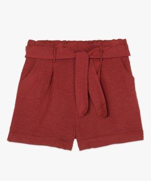 Short femme ample à ceinture vue4 - GEMO(FEMME PAP) - GEMO