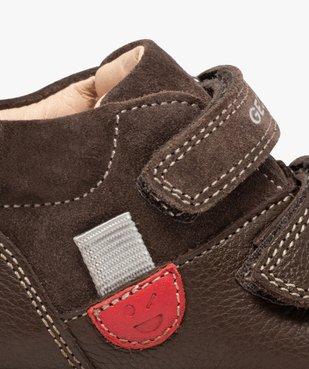 Chaussures premiers pas bébé unies en cuir - Geox vue6 - GEOX - GEMO
