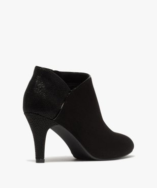 Low-boots femme dessus suédine et bordures passepoil vue4 - GEMO(URBAIN) - GEMO