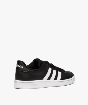 Baskets homme bicolores à lacets - Adidas Grand Court Base vue4 - ADIDAS - Nikesneakers