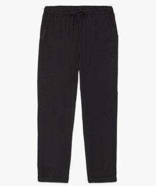Pantalon femme uni large et fluide à taille élastiquée vue4 - GEMO (G TAILLE) - GEMO